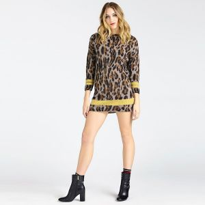 MAGLIONE OVER LEOPARD MOHAIR