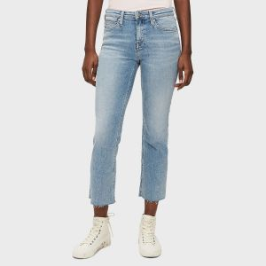 JEANS MID RISE CROP FLARE