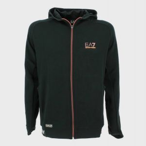 FELPA ZIP CAPPUCCIO PATCH LOGO