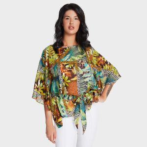 BLUSA STAMPATA FANTASIA JUNGLE