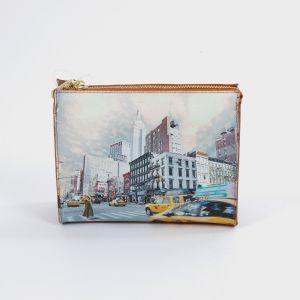 COSMETIC BAG ECOPELLE  NEEW YORK