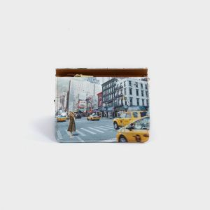 PORTAFOGLI COMPACT ECOPELLE  NEW YORK
