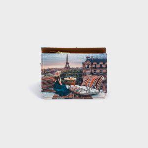 PORTAFOGLI COMPACT ECOPELLE  PARIS