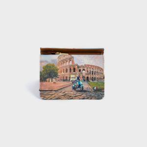 PORTAFOGLI COMPACT ECOPELLE  ROME
