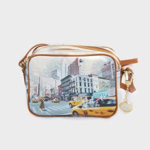 CAMERA BAG DOBLE ZIP ECOPELLE NEW YORK