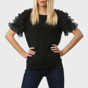 BLUSA 3/4 MAN. ROUCHES POLY