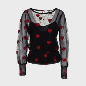 BLUSA HEARTS POLY