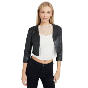 GIACCA CROPPED ECOPELLE