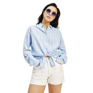 CAMICIA ML RELAXED FRONT KNOT